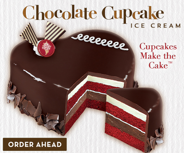 Celebrate Valentine's Day with an ice cream cake from Cold Stone Creamery®