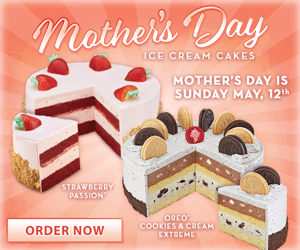 Celebrate Mother's Day with an ice cream cake from Cold Stone Creamery®