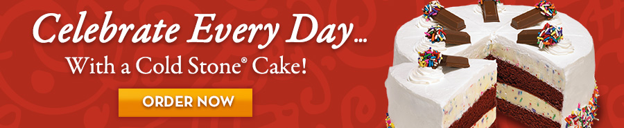 Celebrate with an ice cream cake from Cold Stone Creamery®