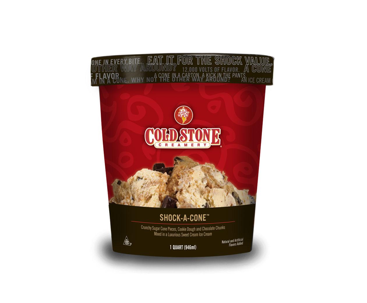 Cold Stone Creamery Pre Packed Shock A Cone Ice Cream