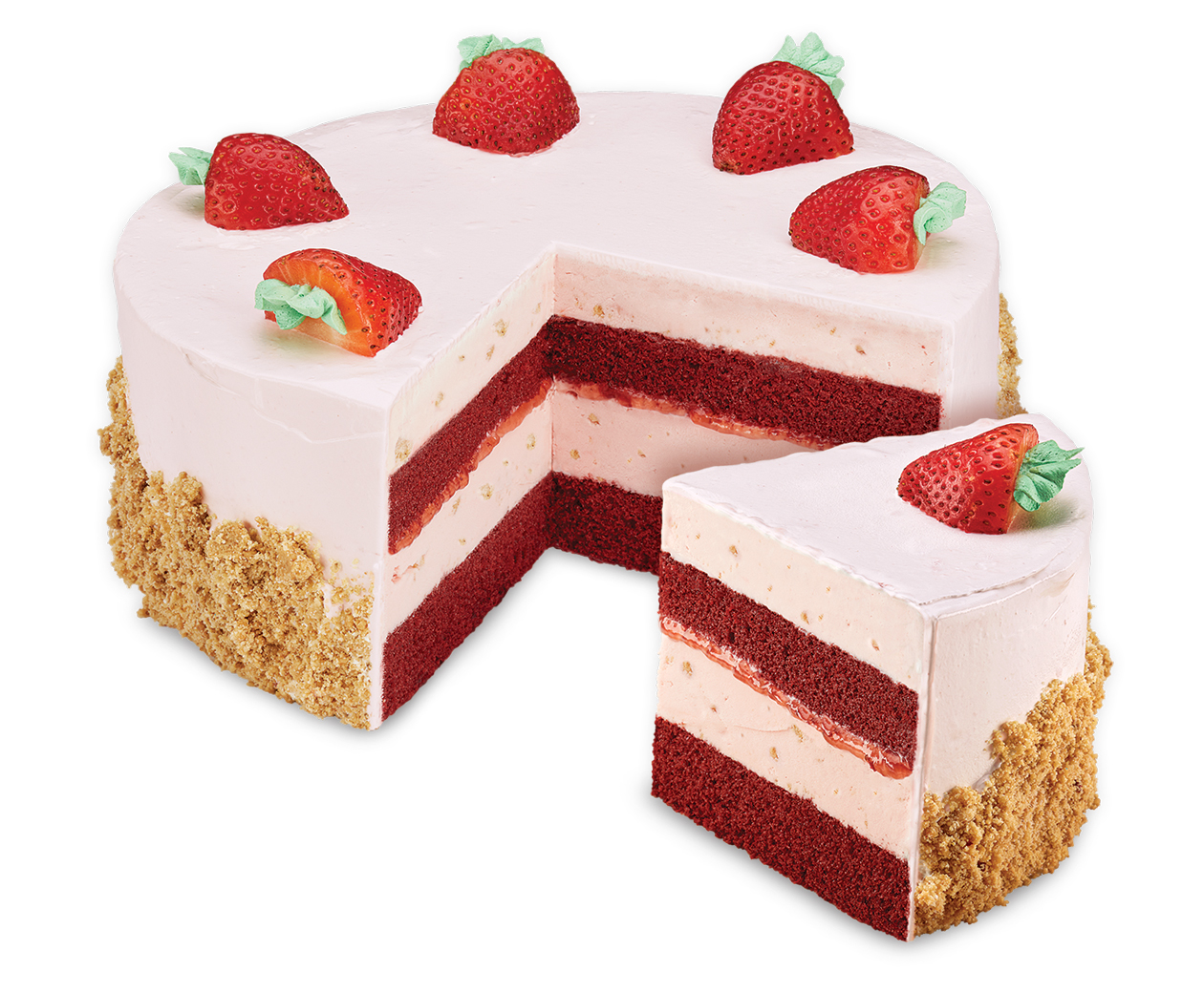 Cold Stone Red Velvet Ice Cream Cake